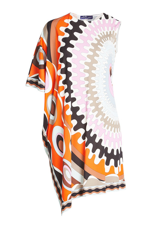 Emilio Pucci Printed Shift Dress In Multicolored