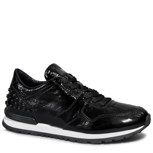 Tod's Sneakers In Patent Leather In Black