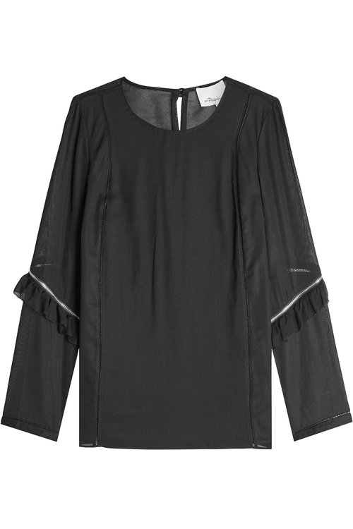 3.1 Phillip Lim Blouse With Silk In Black