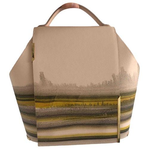 Pre-owned Onesixone Yellow Leather Handbag