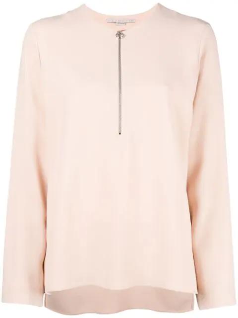 Stella Mccartney Pink Zippered Arlesa Blouse