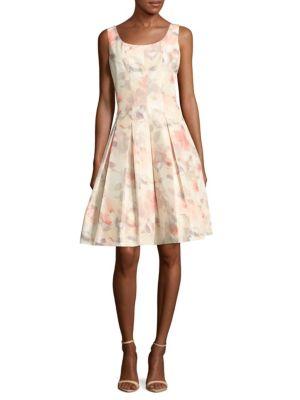 Oscar De La Renta Silk-blend Box-pleated Dress In Light Pink
