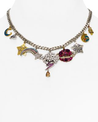"""Marc Jacobs Celestial Statement Necklace, 16"""" In Multi/silver"""
