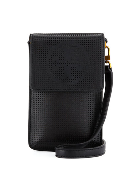 huge discount 38f97 6c256 Perforated Crossbody Phone Case in Black Pattern