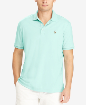 Polo Ralph Lauren Classic Fit Soft-touch Short Sleeve Polo Shirt In Bayside Green