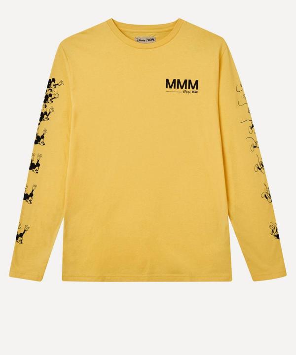 Wood Wood X Disney Bobo Mmm Long-sleeve T-shirt In Yellow