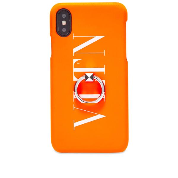Valentino Garavani Valentino Fluo Vltn Iphone Xs Max Case In Orange