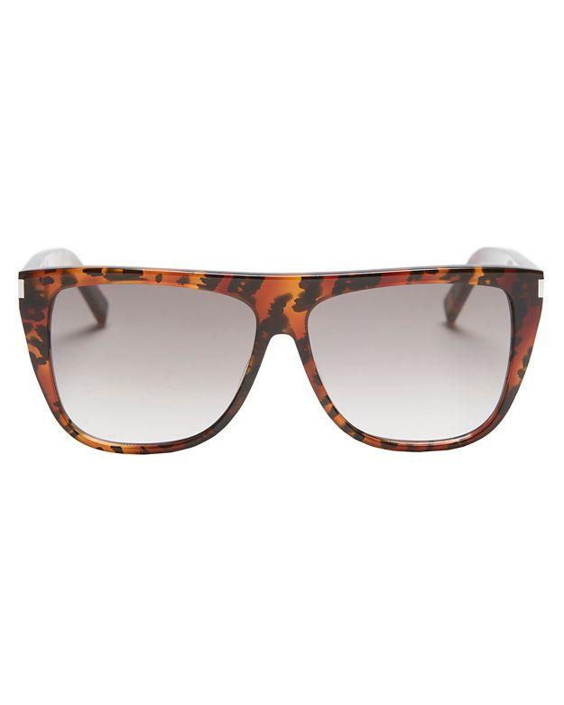 Saint Laurent Animal Print Sunglasses