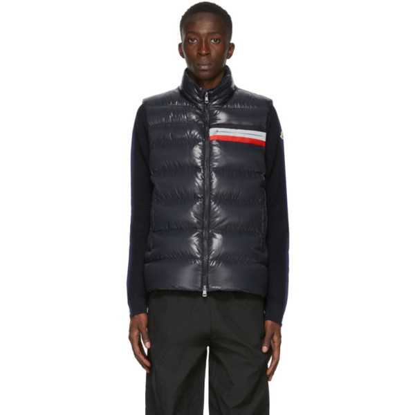 Moncler Parpaillon Water Resistant Down Puffer Vest In 742 Blue