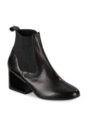 Robert Clergerie Slip-on Leather Booties In Black