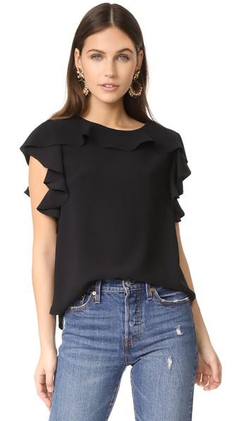 Amanda Uprichard Colette Top In Black