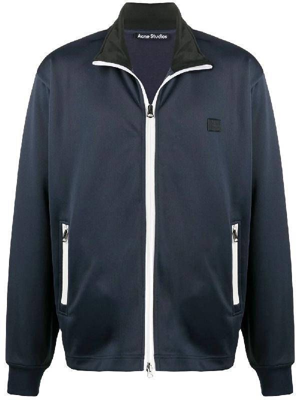 Acne Studios Jayton Face Track Jacket In Blue