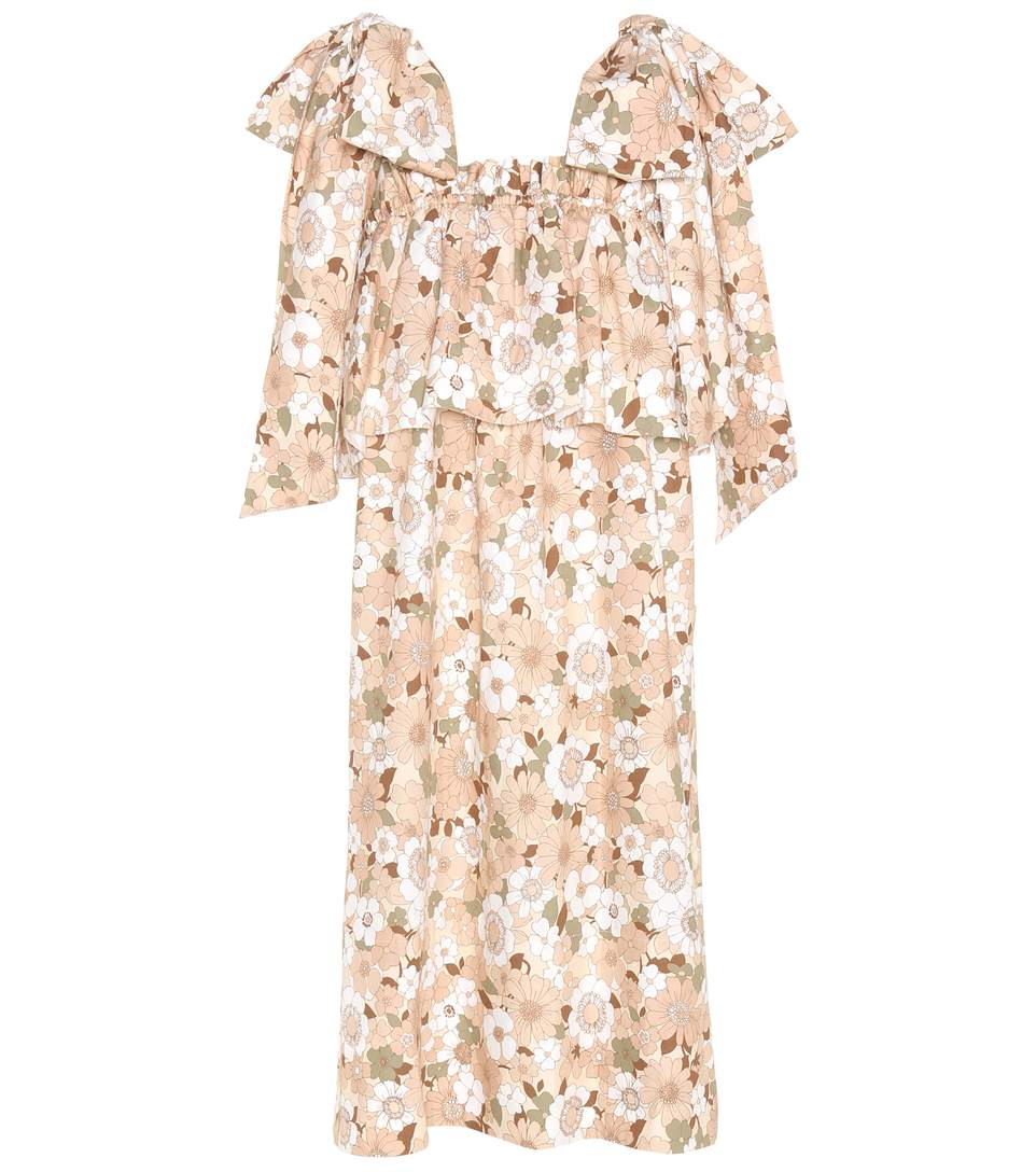 ChloÉ Printed Cotton Dress In Multicoloured