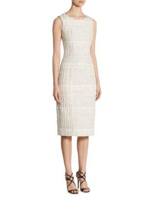 Oscar De La Renta Classic Shift Dress In Ivory