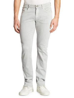 Paige Federal Slim Straight Jeans In Silver Ice