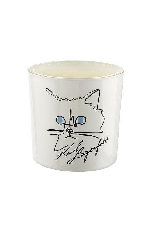 Karl Lagerfeld Choupette Candle In White