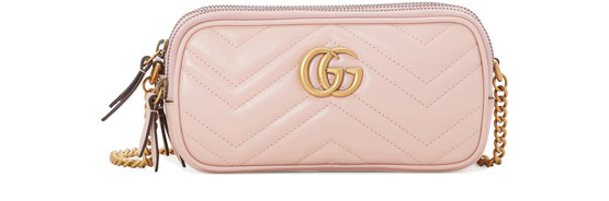 Gucci Gg Marmont Mini Crossbody Bag In Pink