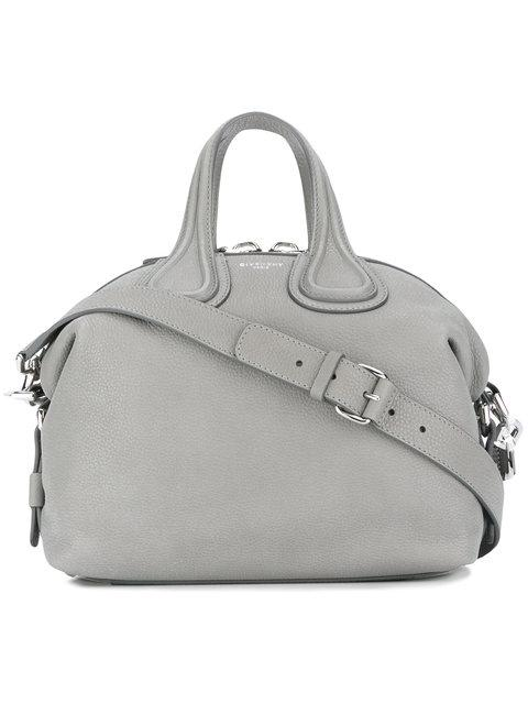 Givenchy Medium Nightingale Grained Tote In Grey