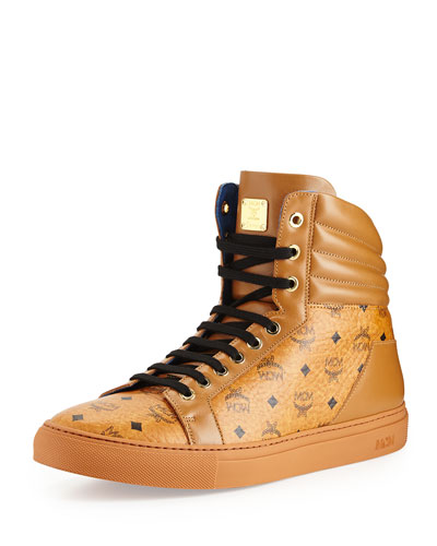 Mcm Coated Canvas & Leather High Top Sneaker (women) In Select Color