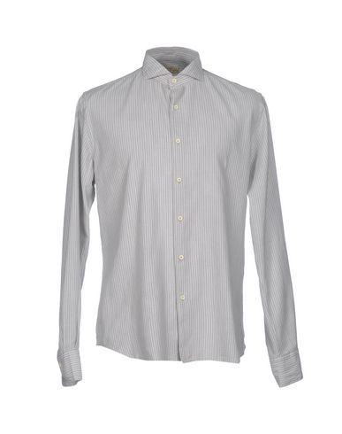 Xacus Striped Shirt In Light Grey