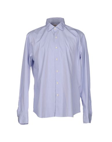 Xacus Striped Shirt In Sky Blue