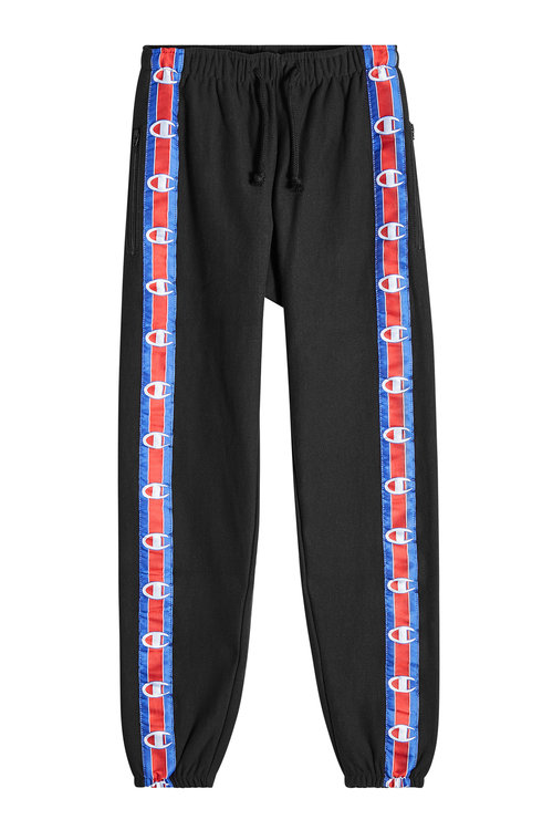 cropped running track trousers