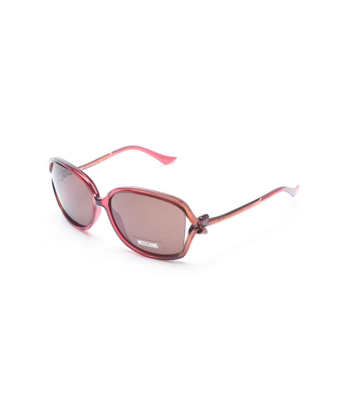 Moschino Women's  Bow Detailed Oversized Sunglasses Red