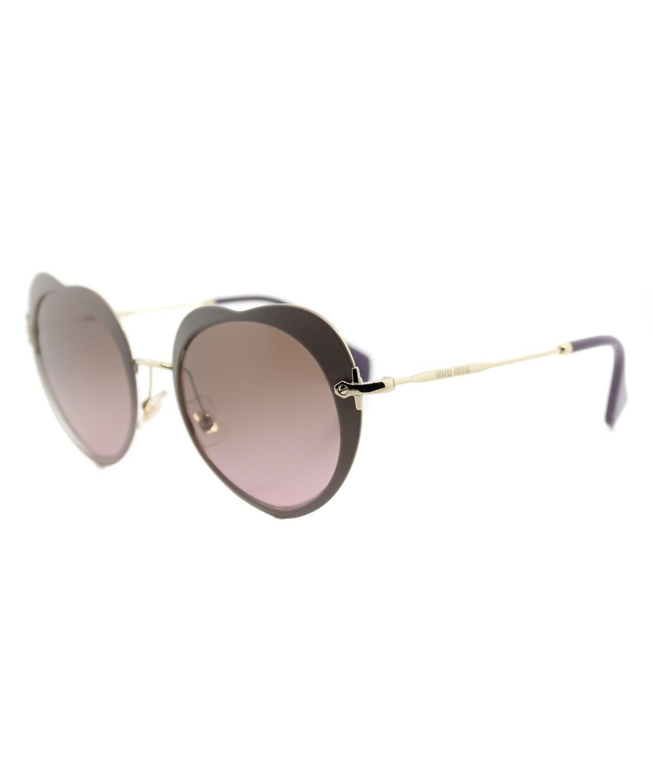 Miu Miu The Collection  Fashion Metal Sunglasses' In Beige