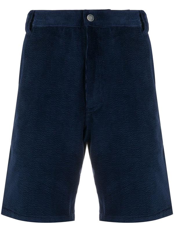 Acne Studios Cotton Cargo Shorts Navy Blue
