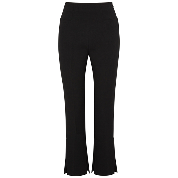 Roland Mouret Goswell Black Kick-flare Trousers