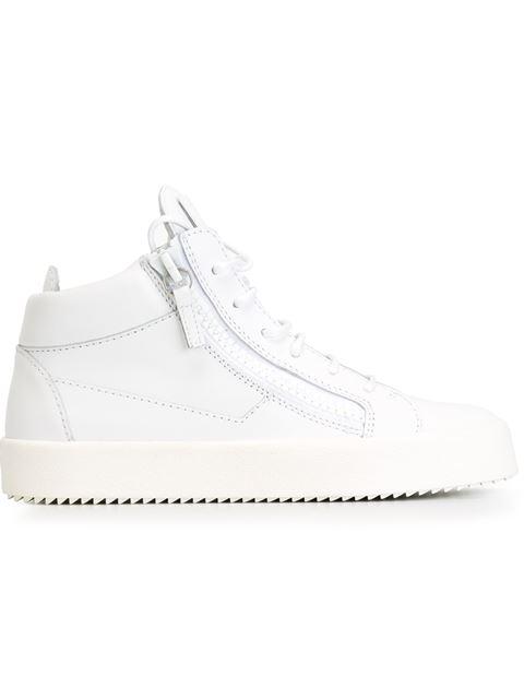 Giuseppe Zanotti Zip Detail Hi-top Sneakers In White