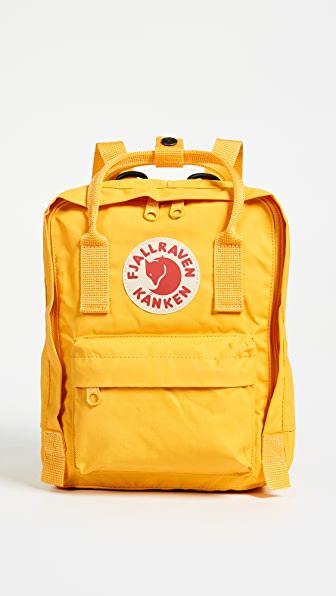 Fjall Raven 'mini Kanken' Water Resistant Backpack In Warm Yellow