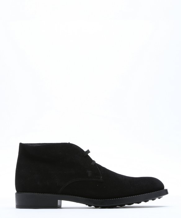 Tod's Suede Desert Boots In Black