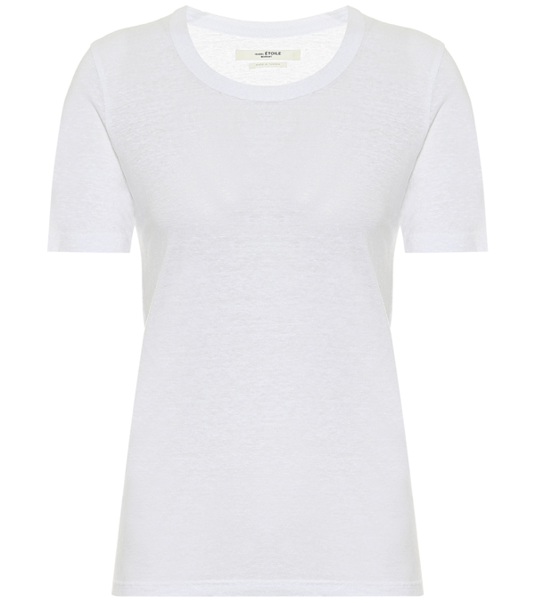Isabel Marant Étoile Killian Linen T-shirt In White