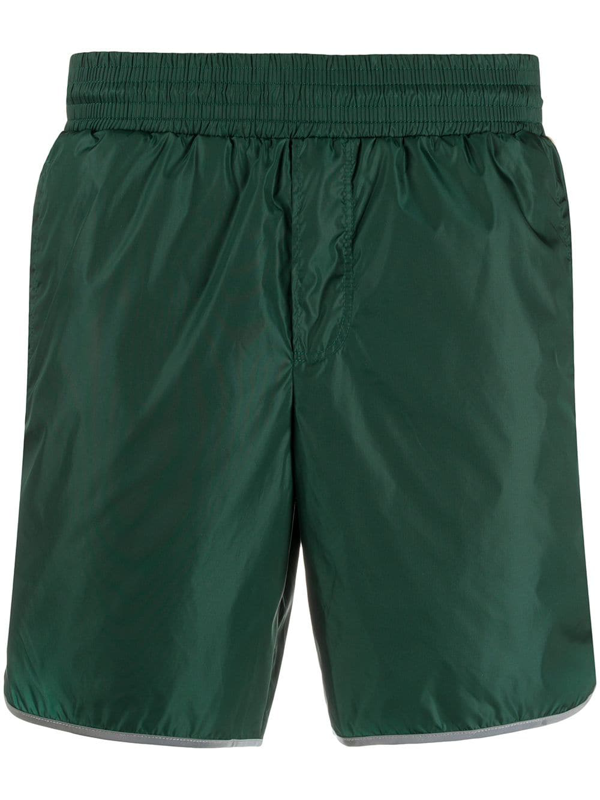 Gucci Swimsuit Shorts With Gg Bands In Green