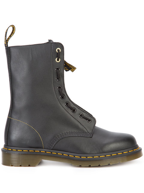 Yohji Yamamoto Dr. Martens Front Zip Boots - Black