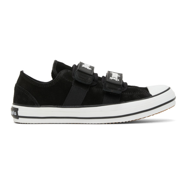 Palm Angels Velcro Vulcanized Sneakers In Black/white