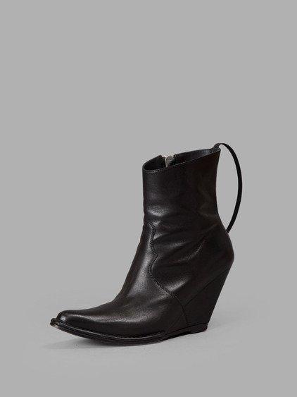 Ben Taverniti Unravel Project Black Ankle Boots
