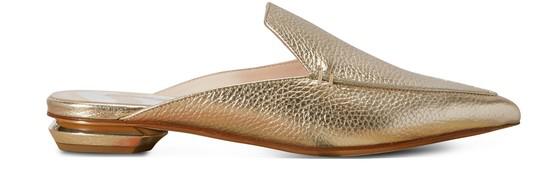 Nicholas Kirkwood Beya Metallic Leather Mules In Platino