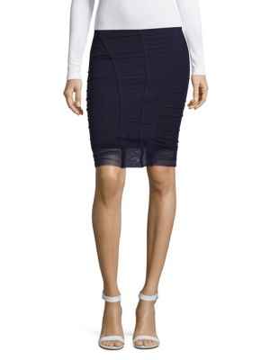 Opening Ceremony Cinched Elasticized Skirt In Ink