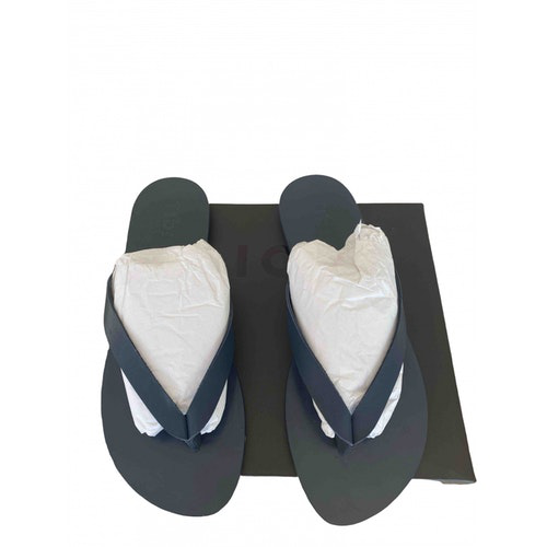 Pre-owned Tibi Navy Leather Sandals