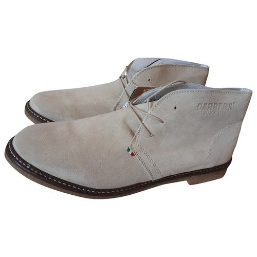Pre-owned Carrera Beige Suede Boots