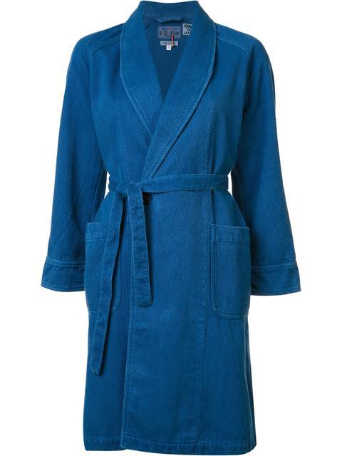 Blue Blue Japan Shawl Collar Coat
