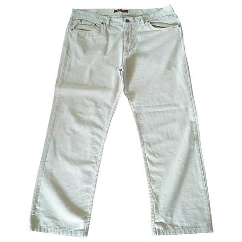 Pre-owned Carrera Ecru Cotton Jeans