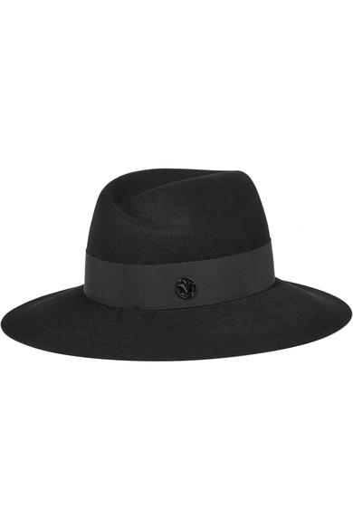 Maison Michel Joseph Showerproof Fur-felt Hat In Black