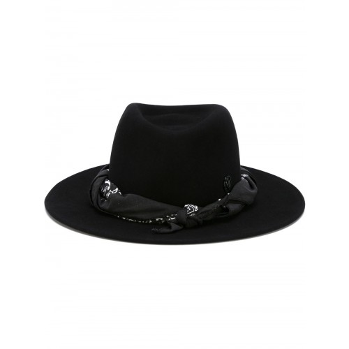 Maison Michel Thadee Masculine Plain Hat In Black