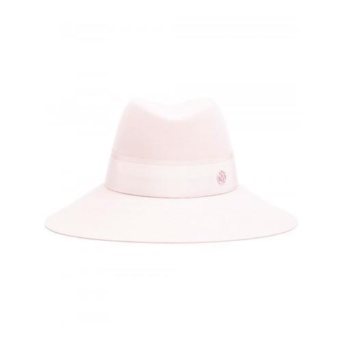 Maison Michel Baby Pink 'kate' Fedora Hat