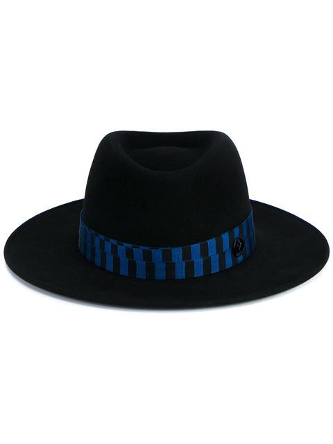 Maison Michel Black Henrietta Bondage Fedora Hat