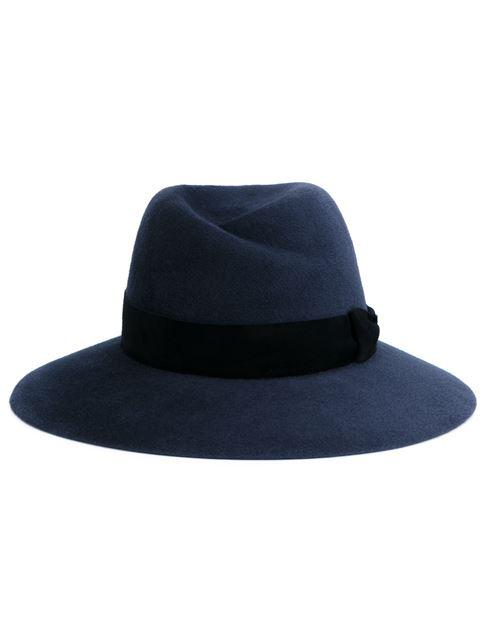 Maison Michel Charcoal Virginie Fedora Hat