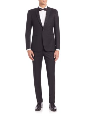 Z Zegna One-button Wool Tuxedo In Black